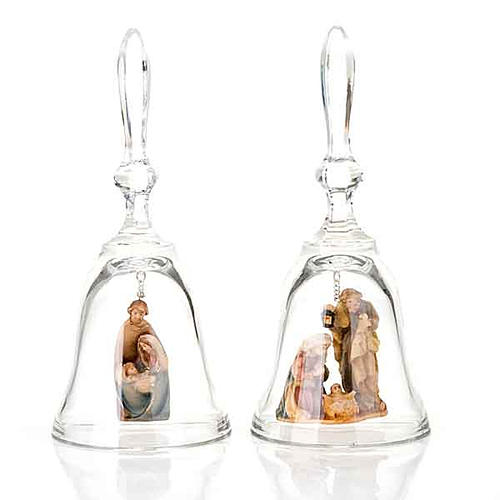 Crystal bell with nativity 1
