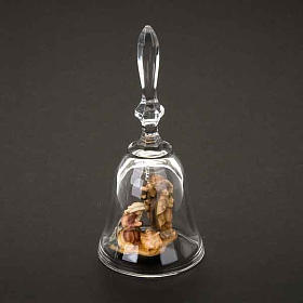 Campanilla de cristal con natividad s2