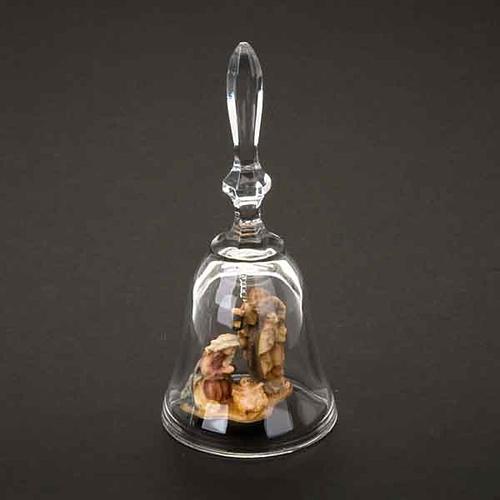 Campanilla de cristal con natividad 2