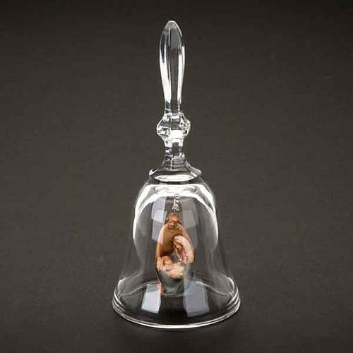 Campanilla de cristal con natividad 3