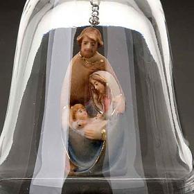 Campanello in cristallo con Natività s5