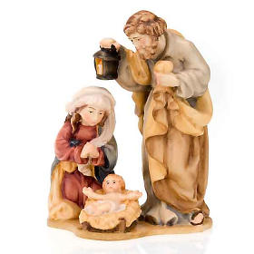 Hand-painted wooden nativity set with base s4