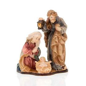 Natividad de madera con base pintada a mano s3