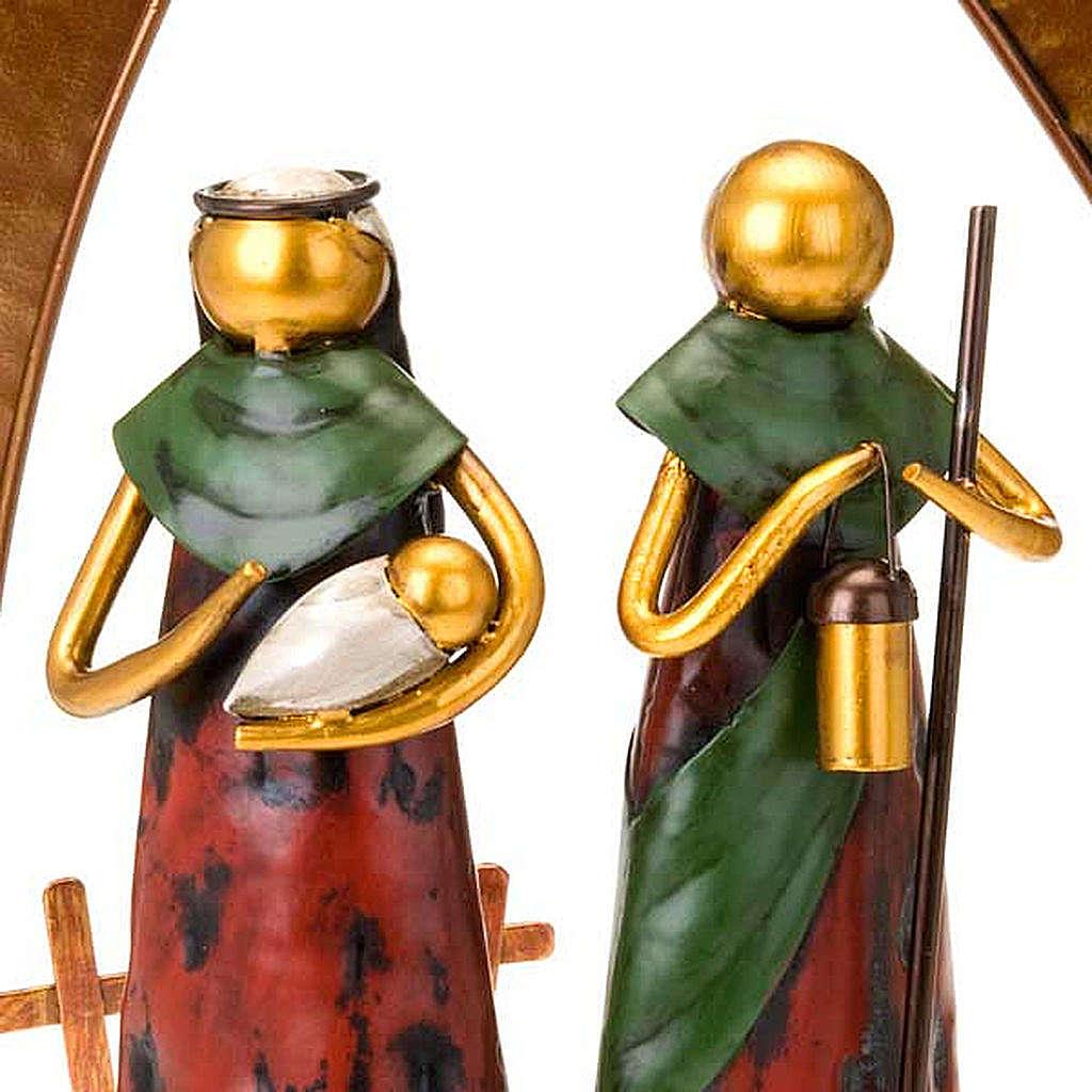 Presepe stilizzato in metallo 4
