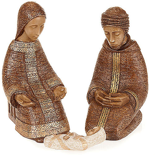 Natividad Virgen campesina marrón 2