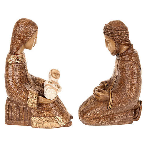 Natividad Virgen campesina marrón 4