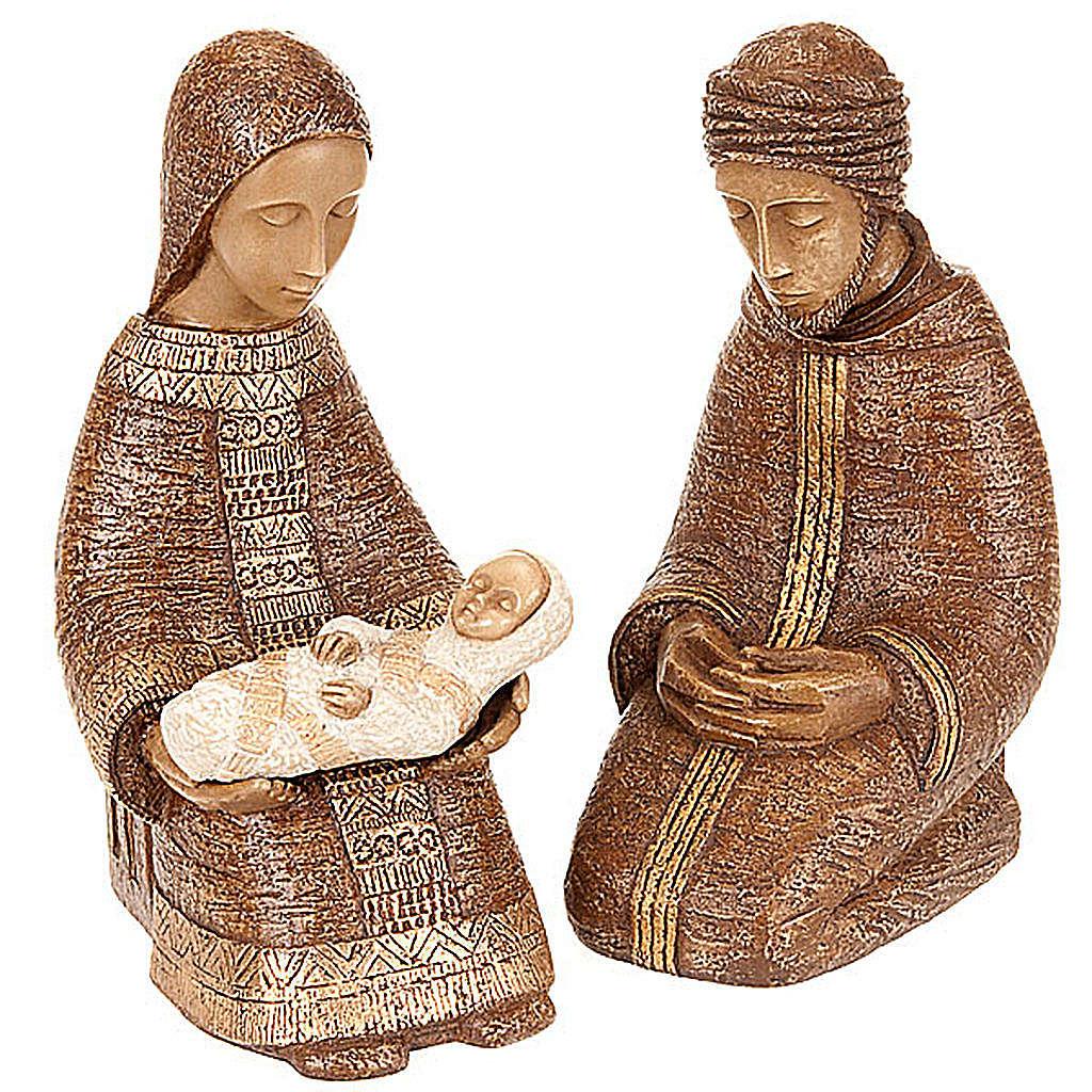 Nativité paysanne marron Bethléem 4