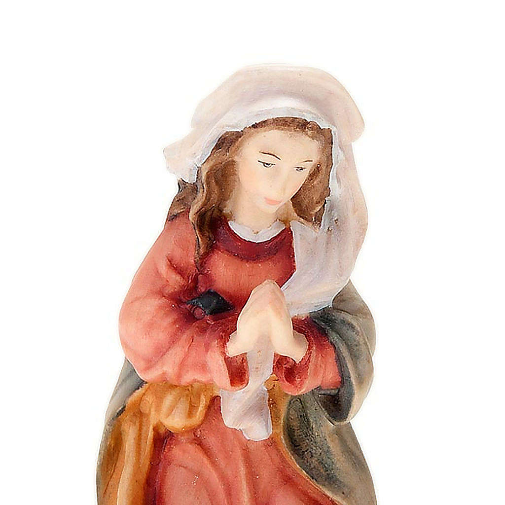 Hand-painted wood nativity 11cm 4