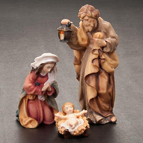 Hand-painted wood nativity 11cm s2