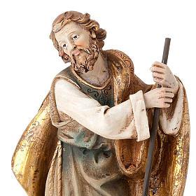 Nativité Sainte Famille colorée 28 cm s5