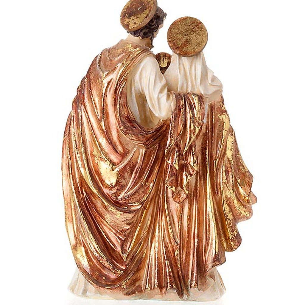 Sacra Famiglia dorata 34 cm 4
