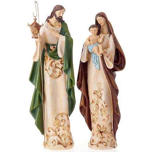 Nativité sainte famille 2 pièces 45 cm 1
