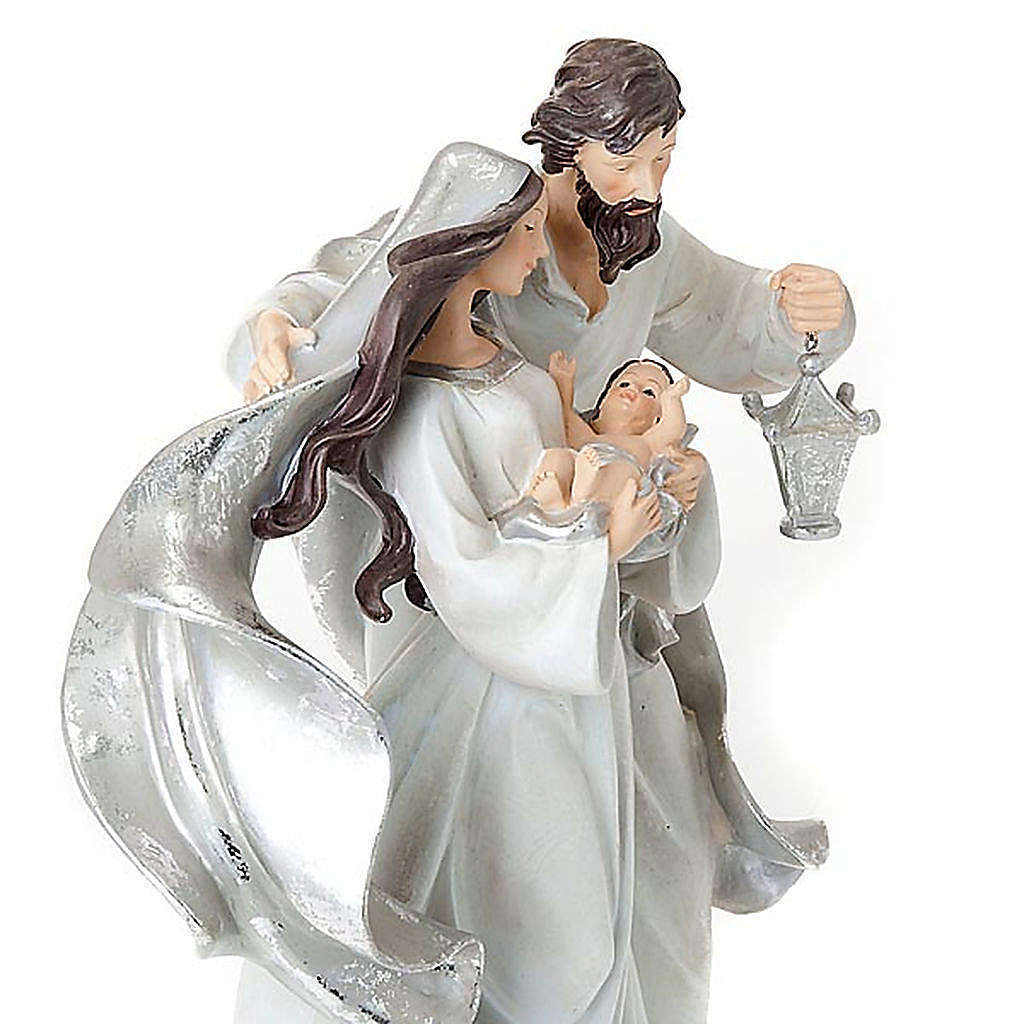 Nativity scene set silvery figurines 41 cm tall 4