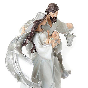 Nativity scene set silvery figurines 41 cm tall s2