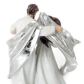 Nativity scene set silvery figurines 41 cm tall s3