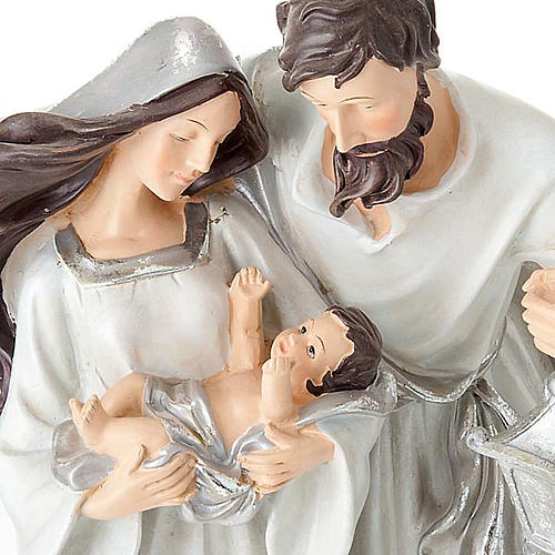 Nativity scene set silvery figurines 41 cm tall 4