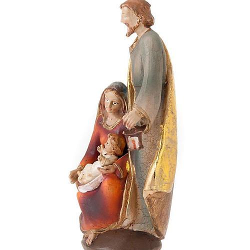 Sacra Famiglia colorata 19 cm 2
