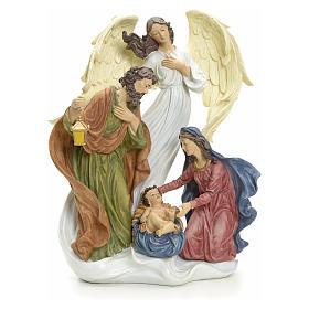 Nativité avec ange 36 cm s1