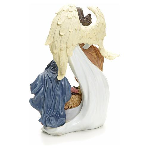 Nativité avec ange 36 cm 3
