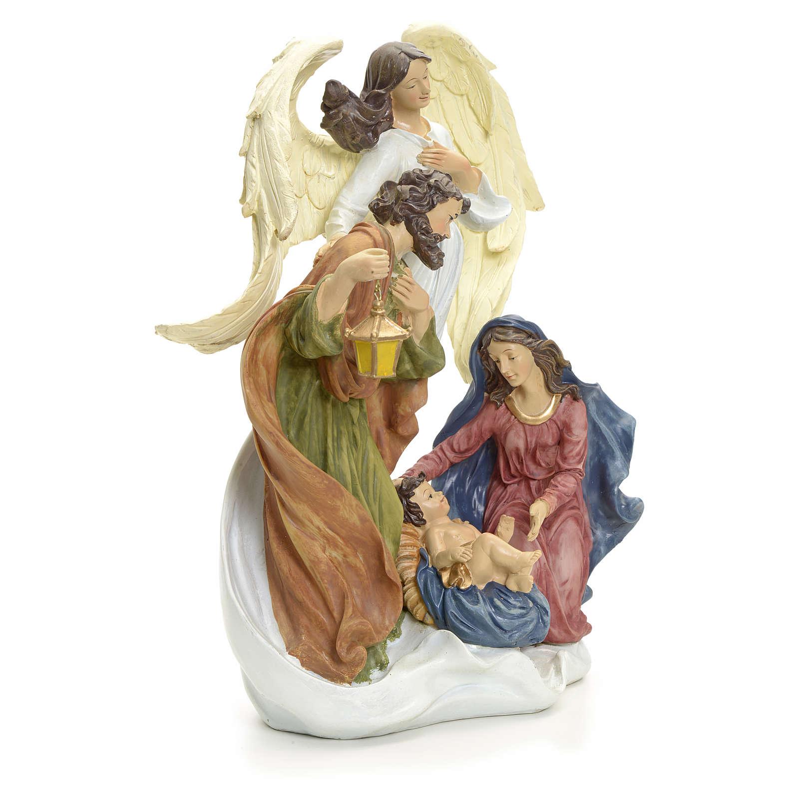 Natività con angelo 36 cm 4