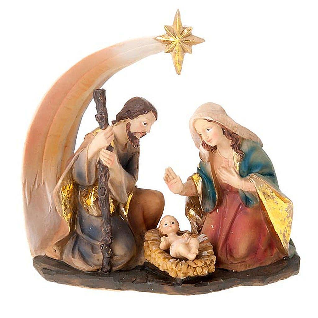 Nativity scene set comet star holy family 4