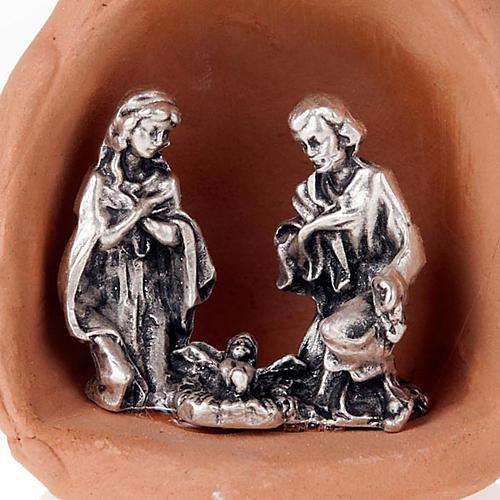 Crèche métal et terre cuite 6 cm 2