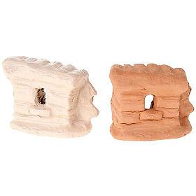 Presepe terracotta e metallo tenda 6 cm s3