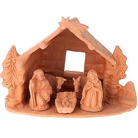 Terracotta Nativity Scene figurines from Deruta: Nativity set complete clay 10 cm