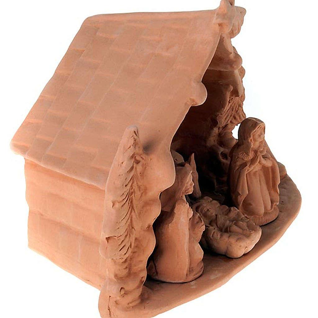 Presepe completo terracotta 10 cm 4
