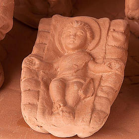 Presepe completo terracotta 10 cm s2