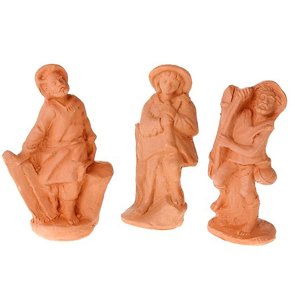 Crèche terre cuite naturelle 20 statuettes 10 cm 4