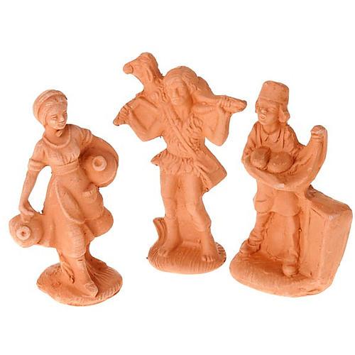 Crèche terre cuite naturelle 20 statuettes 10 cm 5