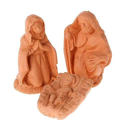 Crèche terre cuite naturelle 20 statuettes 10 cm 8