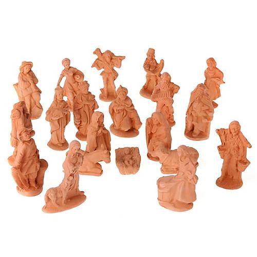 Presepe terracotta naturale 20 statuine 10 cm 1