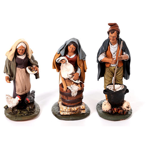 Nativity set complete with manger 25 figurines 18 cm 9
