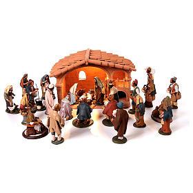 Presépio Terracota Deruta: Presépio Completo Terracota com Cabana e 25 Figuras alt. média 18 cm
