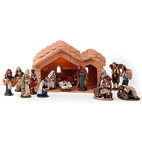 Nativity set complete with manger 25 figurines 18 cm s1