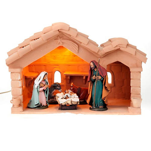 Nativity set complete with manger 25 figurines 18 cm 2