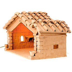 Nativity set accessory, manger in terracotta s1