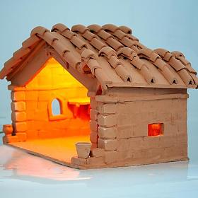 Nativity set accessory, manger in terracotta s4