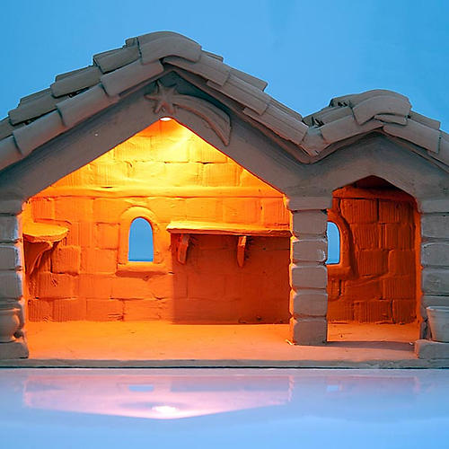 Nativity set accessory, manger in terracotta 3