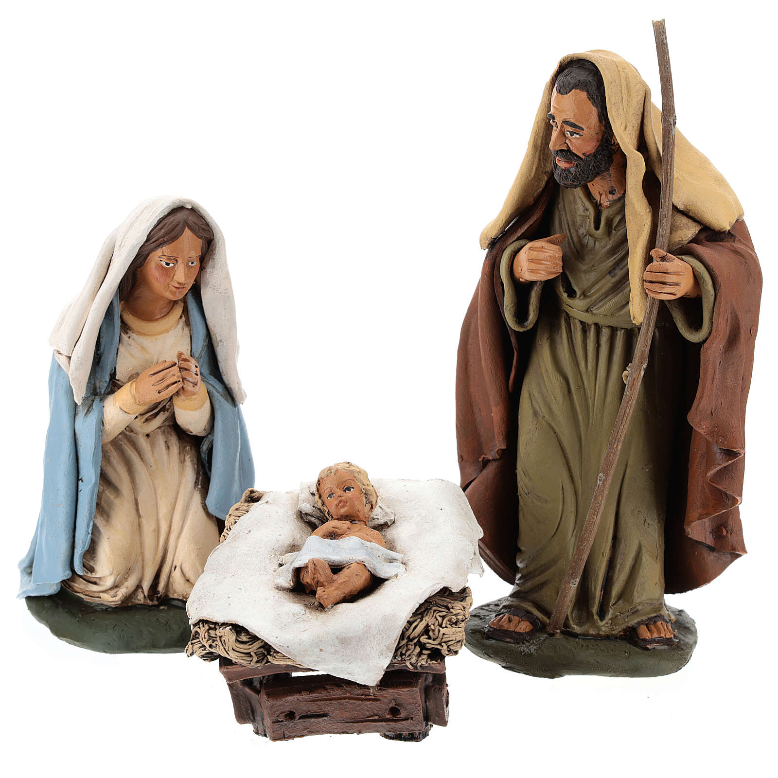 Nativity set hand-painted 18 cm 4