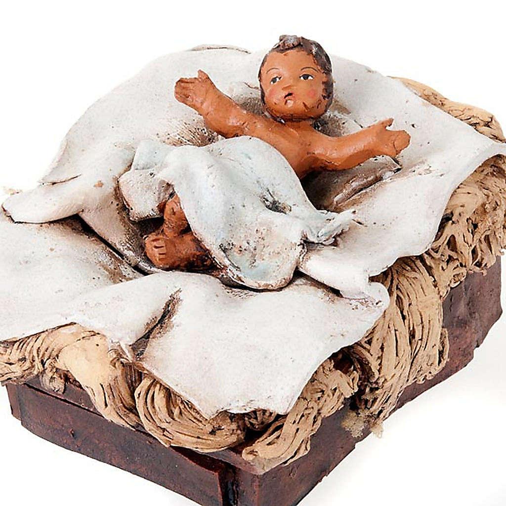 Nativité terre cuite peinte à la main 18 cm 4
