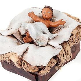 Natività terracotta dipinta a mano 18 cm s2