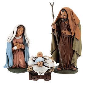Presépio Terracota Deruta: Natividade terracota pintada à mão 18 cm