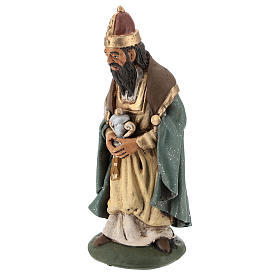 Nativity set accessories clay Three wise kings 18 cm s4