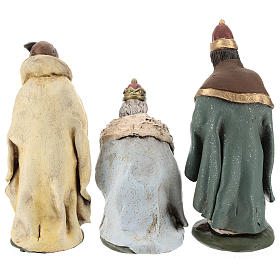 Nativity set accessories clay Three wise kings 18 cm s6