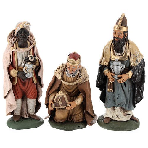 Nativity set accessories clay Three wise kings 18 cm 7