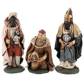 Trois rois Mages terre cuite 18 cm s7