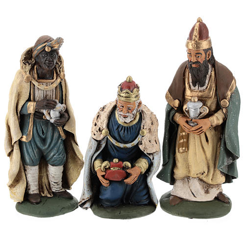 Trois rois Mages terre cuite 18 cm 1